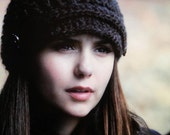 As Seen on The Vampire Diaries - Elena Crocheted Newsboy Brimmed Hat