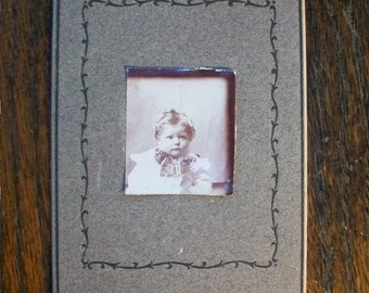 Vintage Photograph Victorian Toddler 4.5 x 3