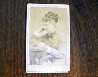Vintage 1800s Photograph Victorian Woman 4 x 2.5