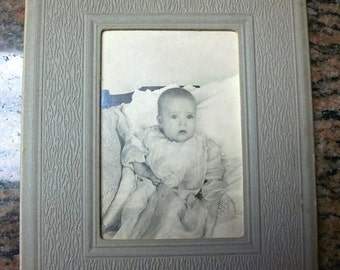 """Vintage Photograph 1940s Baby and a Blanket 5 1/4"""" x 4 1/4"""""""