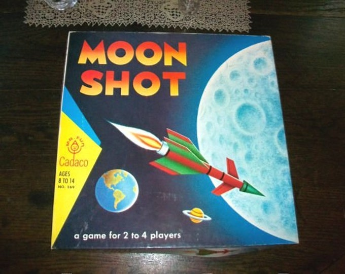Vintage Game 1967 Moon Shot by Cadaco