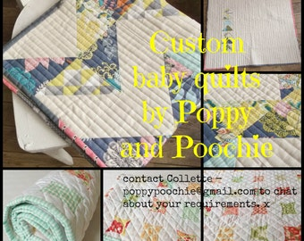 custom baby quilts, personalized