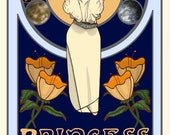 "Star Wars - Princess Leia 6"" x 11"" Print - Art Nouveau"