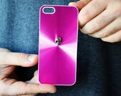 iPhone 5 5s Pink Skull Stud Case