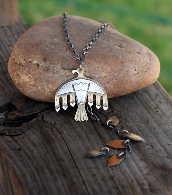 Flash Sale Thunderbird Necklace Native American Bird