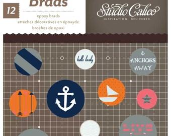 Studio Calico Atlantic Epoxy Brads -- MSRP 4.00