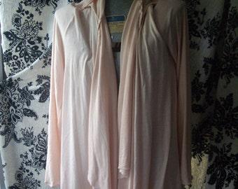 soft pink asymmetrical cardigan,hooded sleeveless vest or with sleeves high fashion, urban edgy sm m l xl xxl