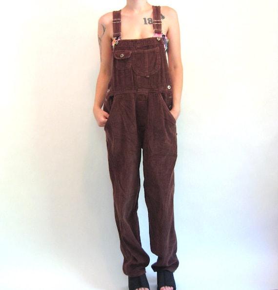 90s Grunge DARIA Corduroy Overalls Women's Size Medium
