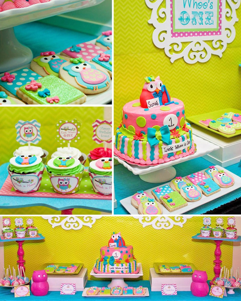 Owl Birthday Party Look Whoo's Turning PRINTABLE
