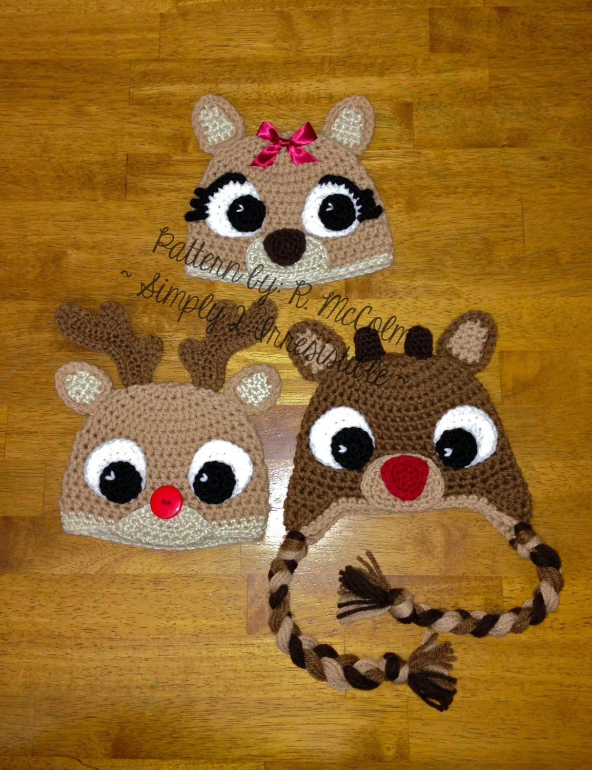 Free Crochet Dog Reindeer Hat Pattern : Rudolph Reindeer Hat Crochet Pattern 57 US and UK Terms