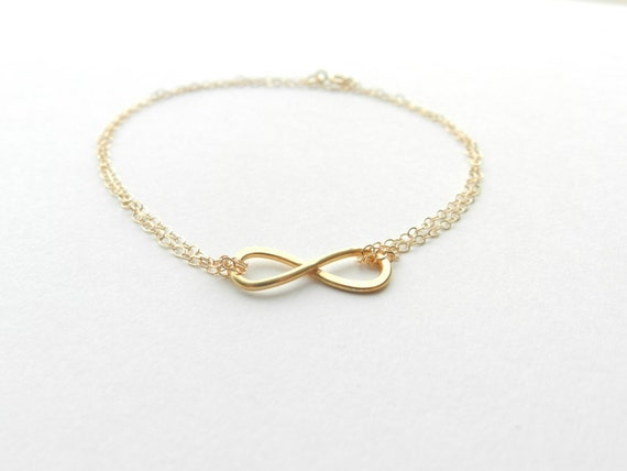 Gold filled infinity bracelet.
