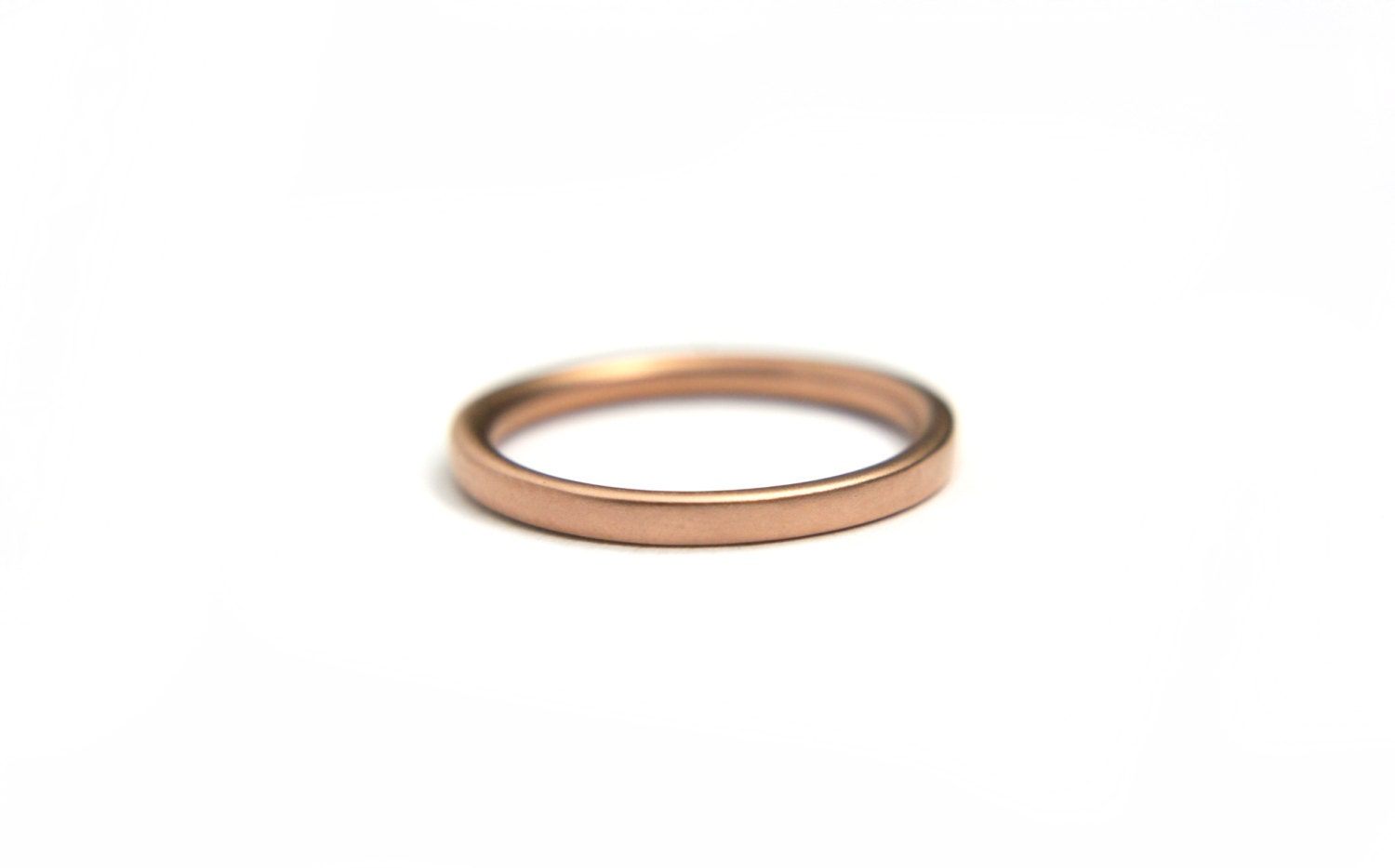 14k rose gold simple wedding ring by AltanaMarie on Etsy