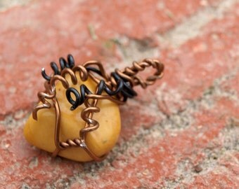 Place an Order for an Embellished Copper Wire-Wrapped Healing Crystal (Pendant or Charm)