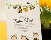 DIY PRINTABLE Invitation Card - Bumble Bee Baby Shower Invitation - BS816CB1a2
