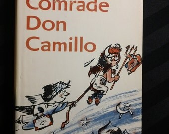 Comrade Don Camillo by Giovanni Guareschi -first English edition vintage hardcover book with dust jacket