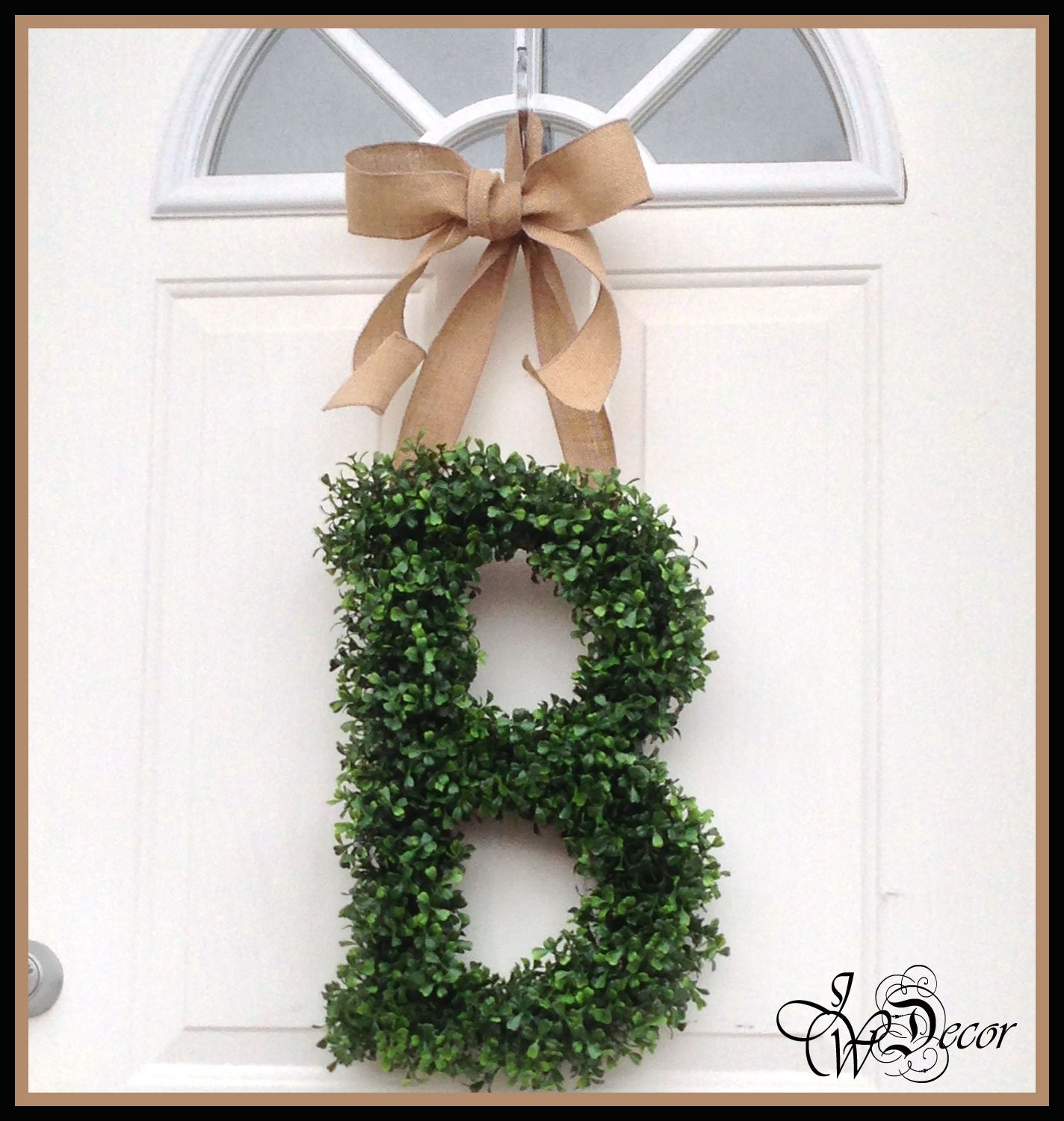 Artificial Boxwood Wreath For Sale - Monogram door wreath wreaths boxwood wreath all year wreath