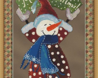 Christmas Snowman Cross Stitch Pattern -Instant Download pdf