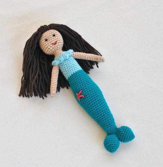SALE Mermaid Plush Crochet Doll - Little Mermaid Toy For Child