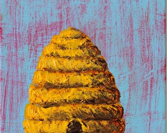 Beehive - Acrylic Painting on Canvas