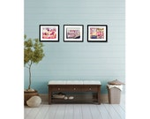 Seattle Photography - Pike Place Market Photos - Food Photography - Washington - Market - Set of Three (3) Market Photos - Pastel Home Decor