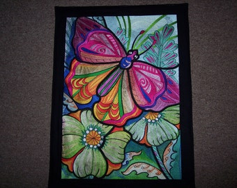 COLORFUL EMBROIDERED BUTTERFLY