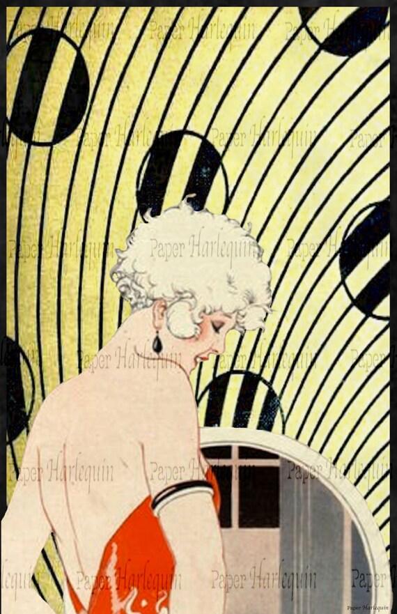 gatsby art deco poster daisy buchanan diy party room decor. Black Bedroom Furniture Sets. Home Design Ideas