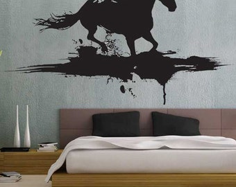 Modern Horse - uBer Decals Wall Decal Vinyl Decor Art Sticker Removable Mural Modern A267