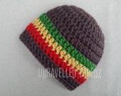 Rasta Baby Hat, Baby Beanie Hat Rastafarian Newborn to Toddler Sizes