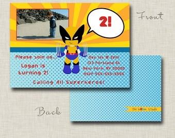 Wolverine - X-Men Birthday Party Invitation