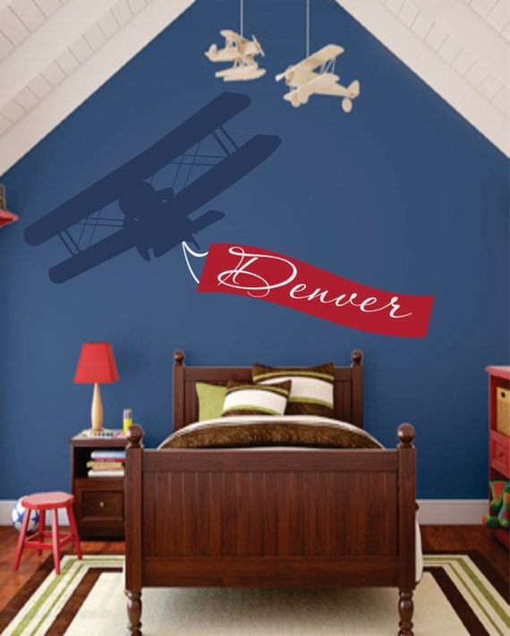 Airplane Name Decal Initial And Name Vinyl By Signjunkies
