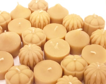 Beeswax Tea light Candles- Mixed set of 24 Beeswax Tea Lights (EACH BURNS for 4 HOURS)