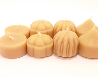 Beeswax Tea light Candles- Mixed set of 12 Beeswax Tea Lights