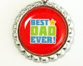 Best Dad Ever, Bookmark for Dad, bookmark, Gift for him, book mark, Shepherd Hook, Fathers Day Gift, red (2563)