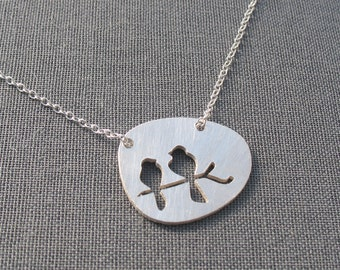 Mother and Child Bird Necklace - Mother's Day necklace - mother's necklace - mother child necklace - mom necklace - mom gift - for mom