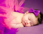 Purple Glitter Bowtie Headband - Photography Prop - newborn, baby, child, adult