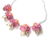Reserved- Sea Shell & Rhinestone Necklace, Beach Wedding, Bridal