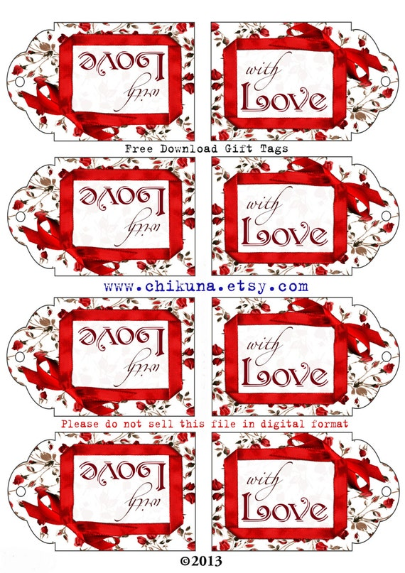 Freebie free printable gift tags with love digital image freebie free printable gift tags with love digital image sheet download tag do not purchase free download print and cut from chikuna on etsy negle Image collections