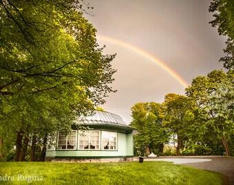 Rainbow wall art, print of a rainbow in Tallinn, Baltic Sea, Estonia, art landscape photography, print to frame for your wall