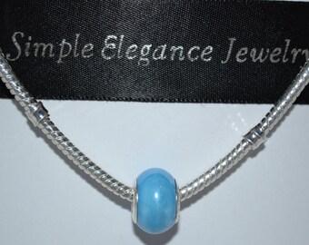 European Light Blue Glass Bead