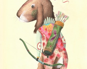 Animal Battle Print // Archer Bunny