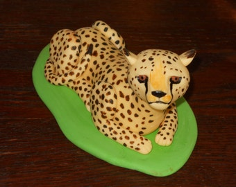 Cheetah Cake Topper for  your safari themed birthday party or shower 100% edible fondant