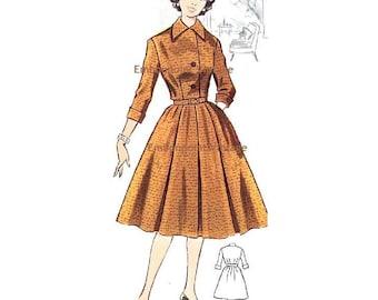 Plus Size (or any size) Vintage 1950s Dress Pattern - PDF - Pattern No 49: Peggy