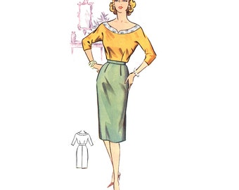 Plus Size (or any size) Vintage 1950s Blouse Pattern - PDF - Pattern No 46a: Gail Blouse