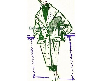 Plus Size (or any size) Vintage 1949 Jacket Sewing Pattern - PDF - Pattern No 57 Mamie