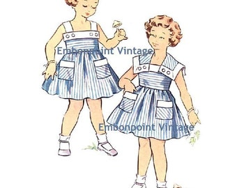 Plus Size (or any size) Vintage 1950s Dress Pattern - PDF - Pattern No 157 158 Gayle