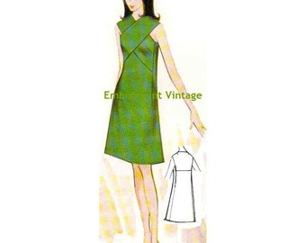Plus Size (or any size) Vintage 1969 Dress Pattern - PDF - Pattern No 133 Thelma