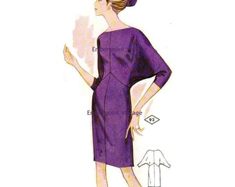 Plus Size (or any size) Vintage 1969 Dress Pattern - PDF - Pattern No 92 Bonita