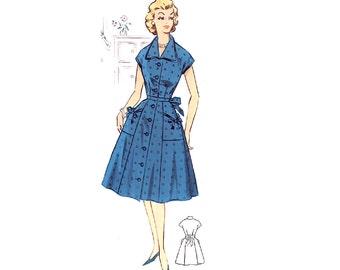 Plus Size (or any size) Vintage 1950s Dress Pattern - PDF - Pattern No 34: Christine