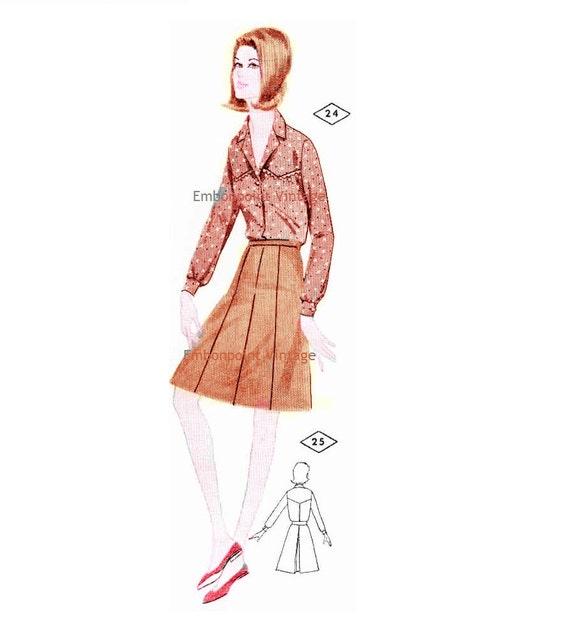 Plus Size (or any size) Vintage 1969 Western Shirt Pattern - PDF - Pattern No 24 Cassandra