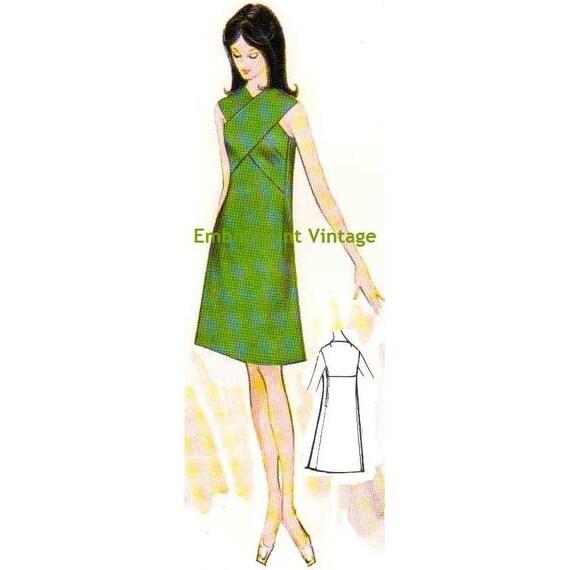 Plus Size (or any size) Vintage 1969 Dress Pattern - PDF - Pattern No 133 Thelma